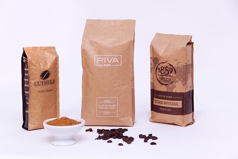 Las bolsas de soldadura dorsal son muy usadas para el empaquetado de productos en el ámbito alimentario, como el café y el cacao
